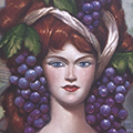 """Woman and Wine, Oil on Canvas 24""""x30"""""""