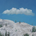 "Tuolumne Rock, Oil on Canvas 36""x18"""